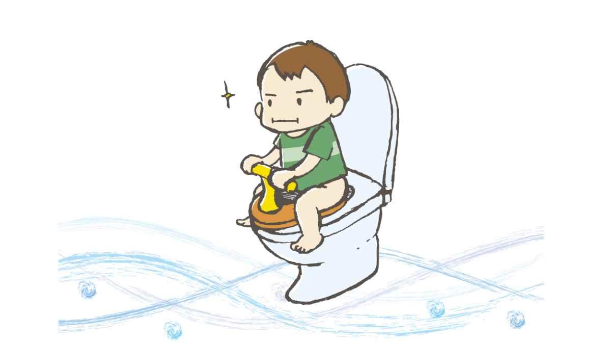 トイレトレーニングを頑張る赤ちゃん